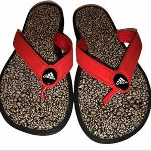 ADIDAS Women's Pebbled Thong Flip-flops Size 9